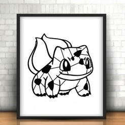 Diseños 3D gratis Bulbasaur decoration (no support needed), Ingenioso3D