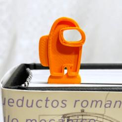 amongus1.png Download free STL file AMONG US BOOKMARK • 3D print model, Ingenioso3D