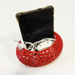 Descargar modelos 3D gratis Organizador de teléfono inteligente (no necesita soporte), Ingenioso3D