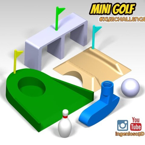 Download free STL file Mini golf for fun and take a break • 3D printable model, Ingenioso3D