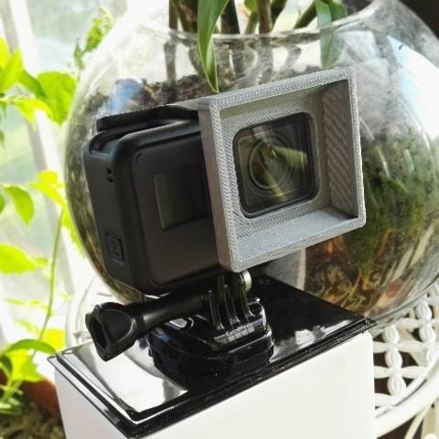 Download free 3D printer files GoPro HERO/hero5/hero6 vintage lens hood, Ingenioso3D