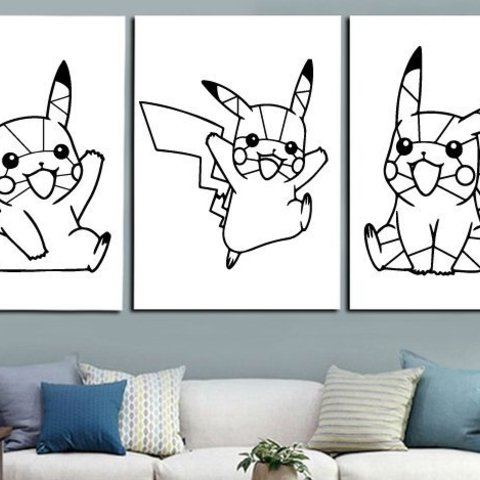 Download free 3D printing templates Pikachu pokemon decoration (no support needed), Ingenioso3D