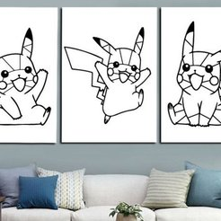 Descargar Modelos 3D para imprimir gratis Pikachu pokemon decoration (no support needed), Ingenioso3D