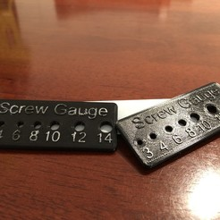 Download free STL Screw Gauge, Darrens_Workshop