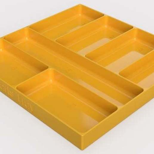 Parts_Tray.jpg Download free STL file Parts Tray • 3D print template, Darrens_Workshop