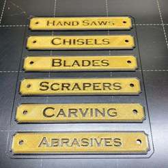 Download free STL Name plates for the workshop, Darrens_Workshop