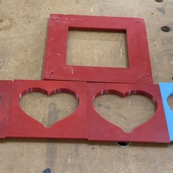Download free STL files Heart shaped router templates, Darrens_Workshop