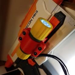 Télécharger fichier imprimante 3D gratuit Nerf RK Lampe de poche à montage latéral pour MKII, D3Dorsett