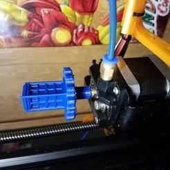 Télécharger plan imprimante 3D gatuit Bouton d'extrudeuse Dr Who, D3Dorsett