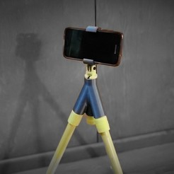 Download free 3D printing templates Cell Phone Mount for Insta-tripod, D3Dorsett