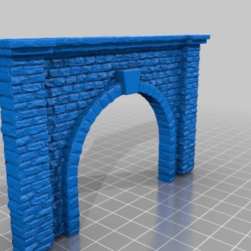 5e22f0d6bdb91f1fa9894dddadda6e88.png Télécharger fichier STL gratuit Portail du tunnel à l'échelle N pour le modélisme ferroviaire • Modèle imprimable en 3D, InvertLogic