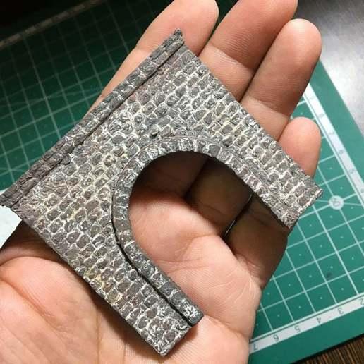 IMG_1832.JPG Télécharger fichier STL gratuit Portail du tunnel à l'échelle N pour le modélisme ferroviaire • Modèle imprimable en 3D, InvertLogic