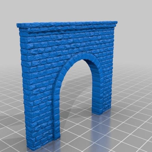 fac7f7ca4120092ee9f1b32b23dc1d69.png Télécharger fichier STL gratuit Portail du tunnel à l'échelle N pour le modélisme ferroviaire • Modèle imprimable en 3D, InvertLogic
