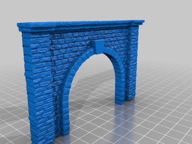 b88a36b7c40aebed1ae8e85f9b0985c2.png Télécharger fichier STL gratuit Portail du tunnel à l'échelle N pour le modélisme ferroviaire • Modèle imprimable en 3D, InvertLogic
