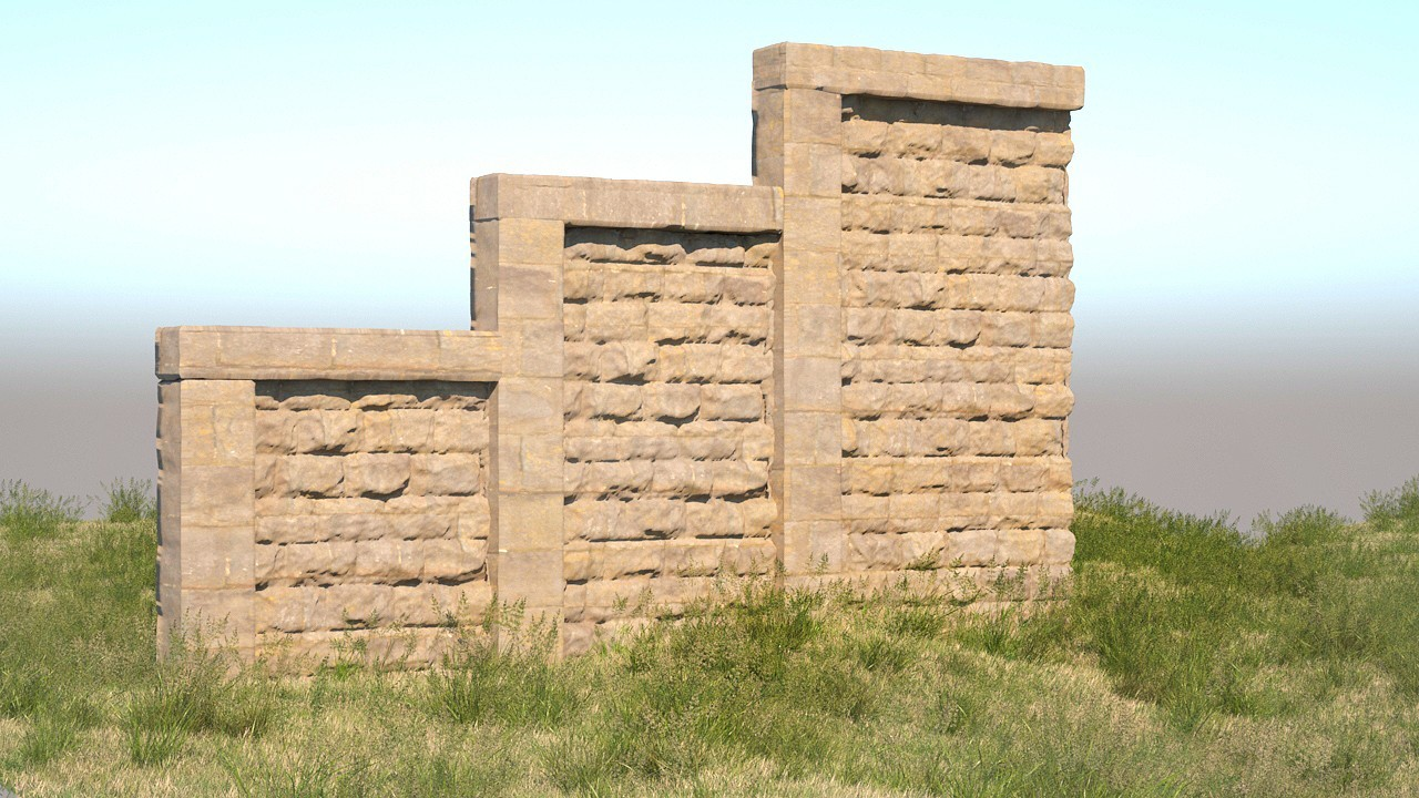 stone wall_with tunnel-2.jpg Download free STL file Stone Walls and Tunnel | D1 • Template to 3D print, InvertLogic