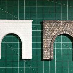 Download free STL file N scale Tunnel Portal for Model Railroad • Model to 3D print, InvertLogic