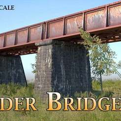 Download free STL file Girder Bridge - Model Railway (N/HO/Z Scale) • Object to 3D print, InvertLogic