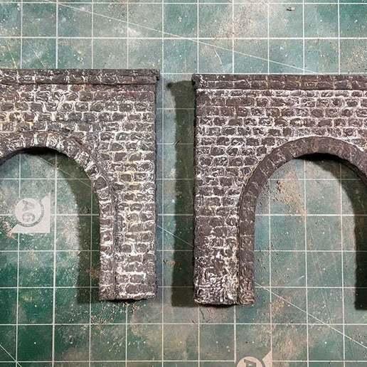 IMG_1845.JPG Télécharger fichier STL gratuit Portail du tunnel à l'échelle N pour le modélisme ferroviaire • Modèle imprimable en 3D, InvertLogic