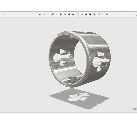 Download free 3D printer model ring size 18mm, Pwenyrr