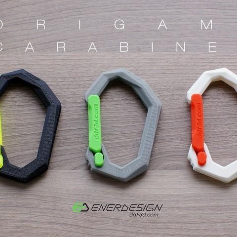 6756e5ffa5799864c946b7770698f6a8_display_large.jpg Download free STL file Origami Carabiner by ddf3d.com • 3D printable design, Pwenyrr