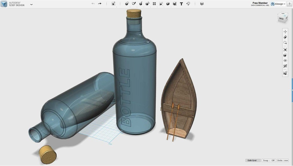 Document1_display_large.jpg Download free STL file Boat in a bottle #MakerEdChallenge • Object to 3D print, Pwenyrr