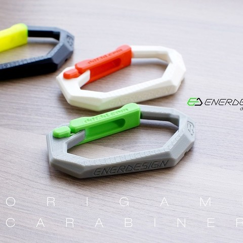 Download free 3D printer files Origami Carabiner by ddf3d.com, Pwenyrr