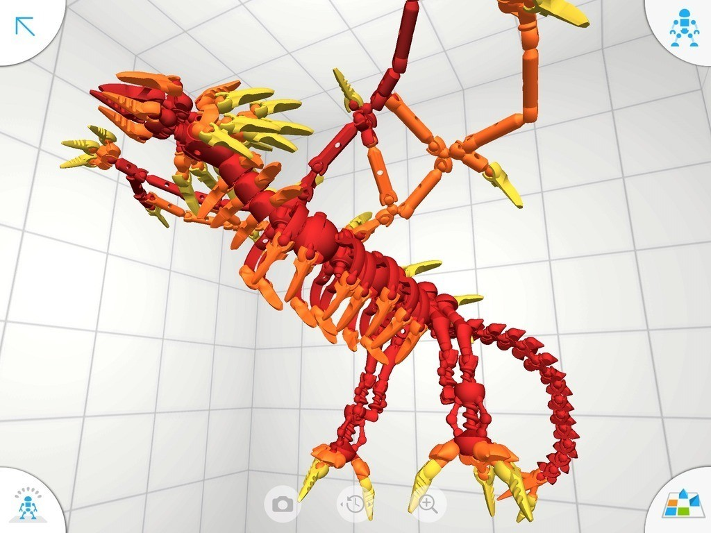 D7_display_large.jpg Download free STL file Flame Dragon • 3D print model, Pwenyrr