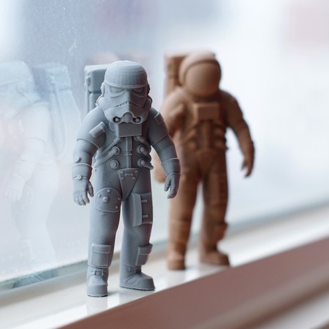 Download free 3D printer designs Stormtrooper Astronaut, Pwenyrr