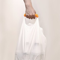 Free 3D printer files comfortable plastic shopping bag handle, Pwenyrr
