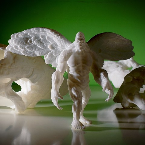 Download free 3D printing templates Flying Yeti, Pwenyrr