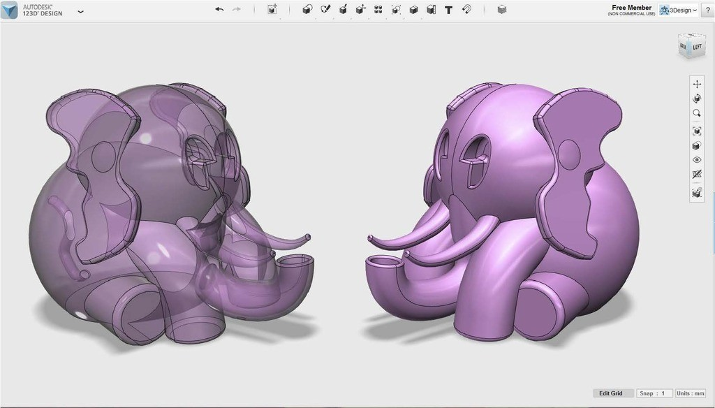 817f235cdf9b2cfb9ea84a68ea4efa6c_display_large.jpg Download free OBJ file Elephant #MakerEdChallenge • 3D printable design, Pwenyrr