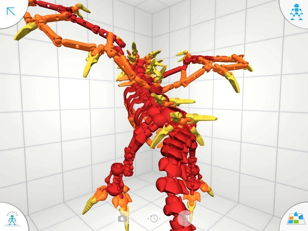 D2_display_large.jpg Download free STL file Flame Dragon • 3D print model, Pwenyrr