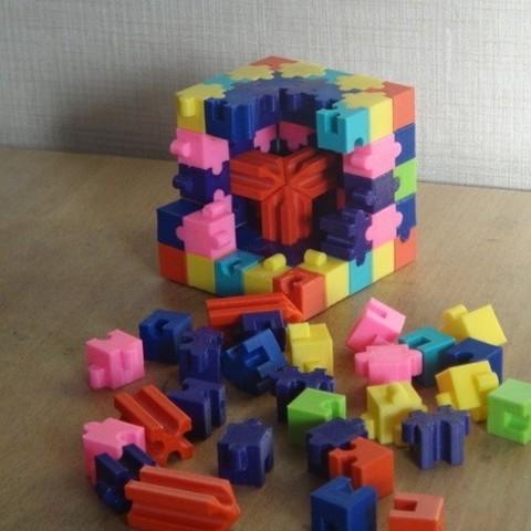 Free 3D printer designs puzzle_cube  #MakerEdChallenge, Pwenyrr