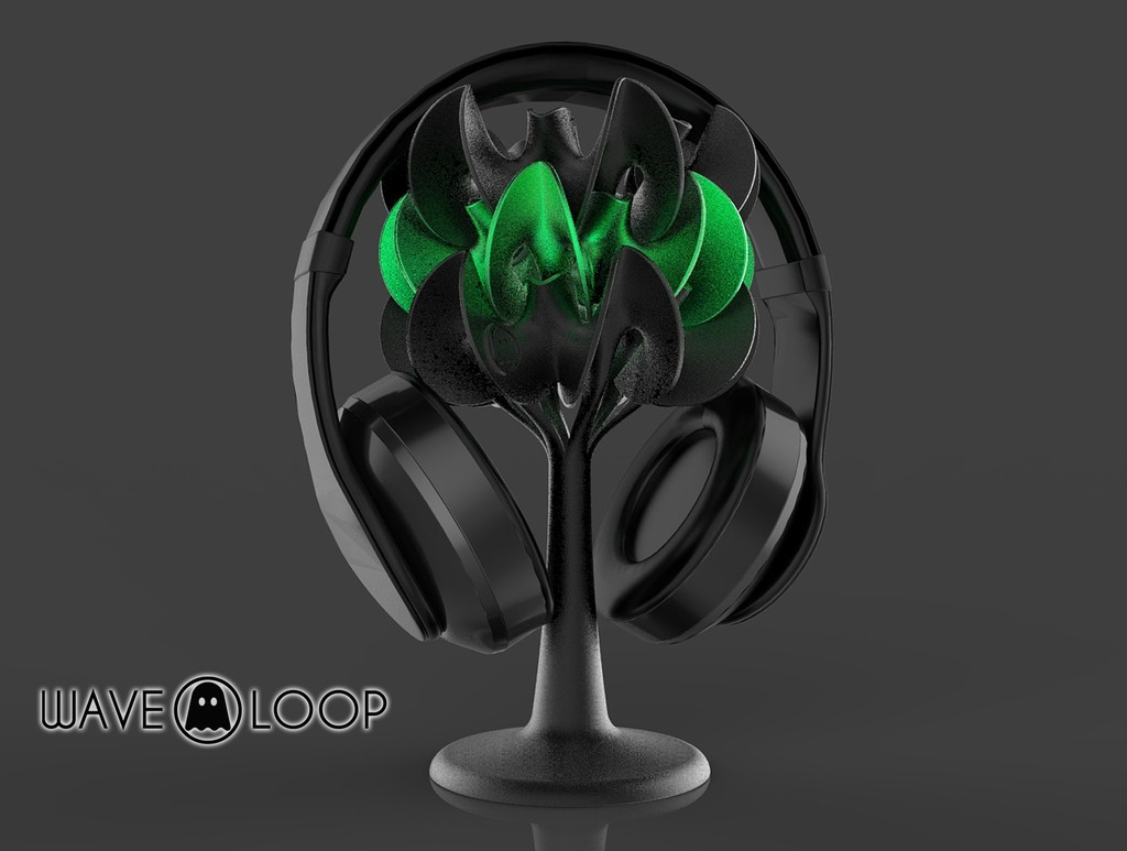 T2_display_large.jpg Download free STL file Ghostly Wave Loop • 3D printable model, Pwenyrr