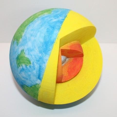 IMG_1902_Crop_display_large.jpg Download free STL file Cutaway Earth Model • 3D print object, Pwenyrr