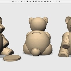 03399721219e62dfc097103edccd3559_display_large.jpg Download free STL file Teddy_bank • 3D printable template, Pwenyrr