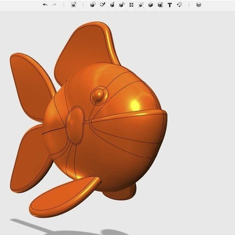 Télécharger modèle 3D gratuit poisson, Pwenyrr