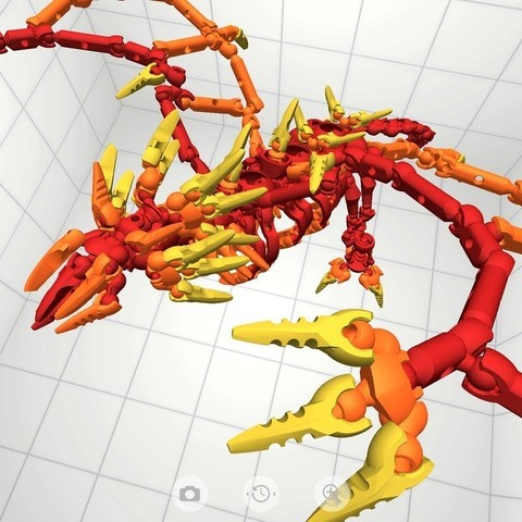 D5_display_large.jpg Download free STL file Flame Dragon • 3D print model, Pwenyrr