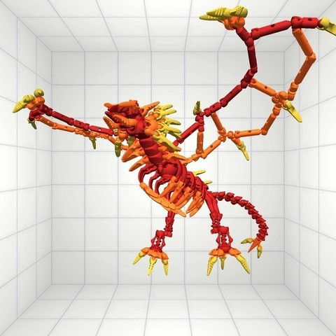 Modio_1005_1932_display_large.jpg Download free STL file Flame Dragon • 3D print model, Pwenyrr