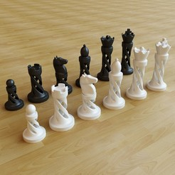 STL files Chess - No supports, Webshocker