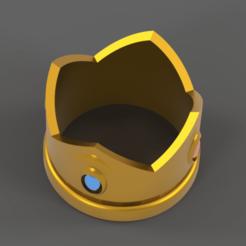 CrownTopview.png Download free STL file Gold Prince/Princess Crown • 3D print template, M-Bot