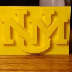 Download free 3D printing designs University of New Mexico Logo, zmontoya94