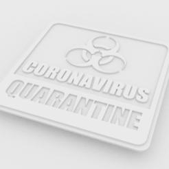 sign_1.png Télécharger fichier STL Signe de quarantaine des coronavirus • Objet à imprimer en 3D, escariano