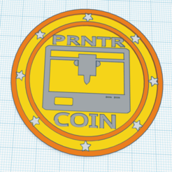 Download free STL file PRNTR COIN • 3D print object, carlctz