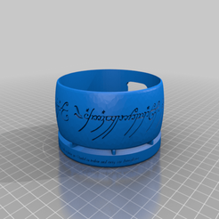 Download free 3D print files Interceptor Sauron's Ring - The Lord of the Rings - Alexa Dock For Gen. 3, Interceptor
