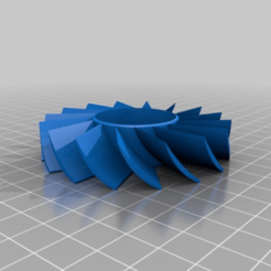 Impresiones 3D gratis Palas de recambio del ventilador de refrigeración 80mm, Interceptor