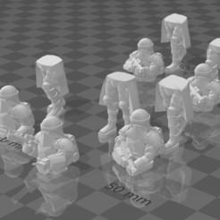 Impresiones 3D gratis Soldados de la Marina, BigMillerBro