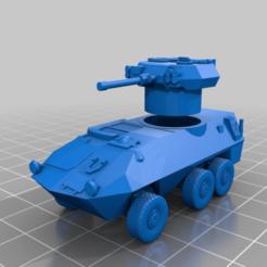 Download free 3D printing models 1/100 (15mm) AVGP Cougar Grizzly, BigMillerBro