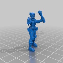Download free STL Female Space 'Dude' 7 figure set, BigMillerBro