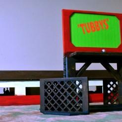 DSC_8723.JPG Download free STL file 'Tubbys' Diner / Small Business Building and Sign Set • 3D printable model, BigMillerBro